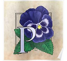 P is for Pansy Poster