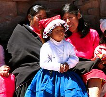 I'm so pretty, girl in traditional dress, Isla Taquile, Peru by suellewellyn