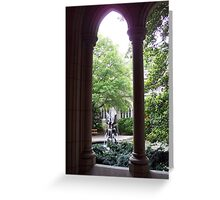 Cloistered fountain Greeting Card