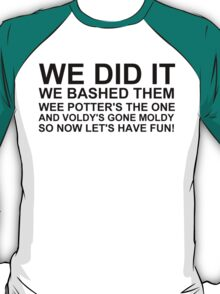 Peeve's Song- A Harry Potter Victory T-Shirt