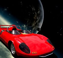 """Spaced Out"" Two Seater Sports Car by TeeMack"