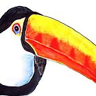 Toucan Exotic Wildlife Bird original Acrylic Painting Design by Rick Short