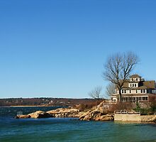 House At Niles Beach, Gloucester, Massachusetts by artwhiz47