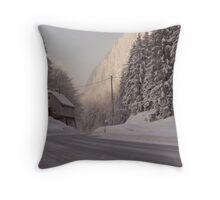 Winter in the Alps. Throw Pillow