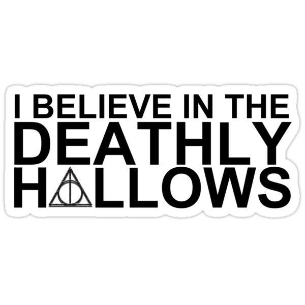 I Believe in the Deathly Hallows by loveaj