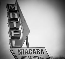Niagara House-B&W by John  De Bord Photography
