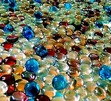 #553    Colour'd Marbles On A Mirror by MyInnereyeMike