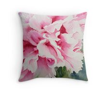 Perfect Pink Peony Throw Pillow