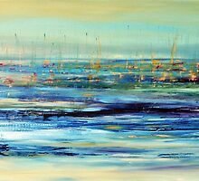 Sails floating on ice by Beata Belanszky Demko