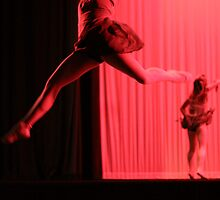 Dancer Leaping in Red Light by Denice Breaux