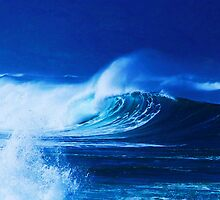 Fifty foot surf, Oahu by Lee Gunderson