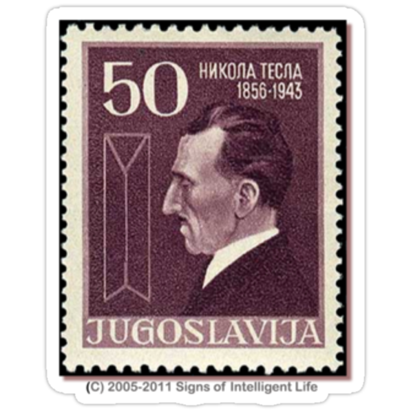Tesla Stamp (Yugoslavia) III by SOIL
