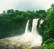Waterfall In Waipio Valley, Big Island, Hawai`i by EJ27
