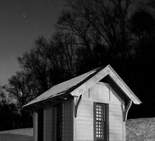 Outhouse on a Cold Starry Night by Mark Van Scyoc