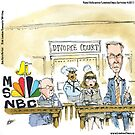 MSNBC Divorce Court by Londons Times Cartoons by Rick  London