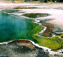 #550   Geothermal Pool In Yellowstone #1 by MyInnereyeMike