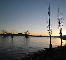 Perfect fishing conditions at Lake Eucumbene by eucumbene