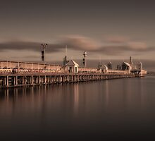 The Pier At Sunrise by peterperfect