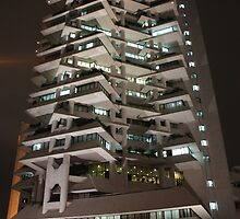 Intiland Tower (by night) by Property & Construction Photography