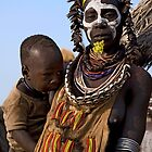KARO TRIBE - MOTHER AND CHILD by Nicholas Perry