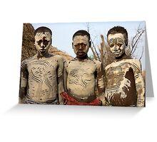 THREE KARO BOYS Greeting Card