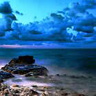 Blue cloudy seascape  by Francesco Malpensi