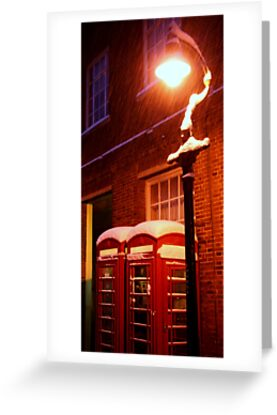 The Phone Boxes (Canterbury in the Snow 2010) by JJFA