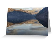 Ennerdale Water..A View Of The Fells Greeting Card
