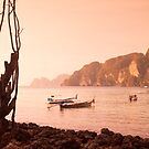 Dusk on the Phi Phi Islands by Kerry Dunstone