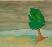 A lonely tree against the storm. by Rannveig Ovrebo