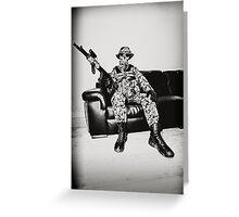 Boy Soldier Greeting Card