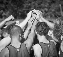 """""""Go Team"""" -pulling together as a team (b/w) by John Hartung"""