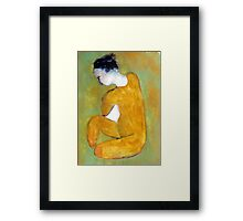 seated nude Framed Print