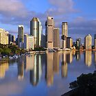 Brisbane River and City at dawn. Queensland, Australia. by Ralph de Zilva