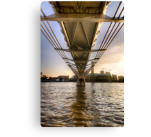 Millenium Bridge Sunset - London Canvas Print