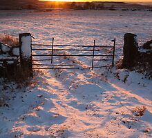 Snow Sunset Derbyshire by Roy Childs