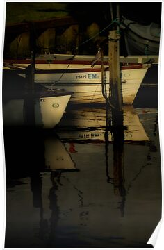 Moored Boats by Karen  Betts