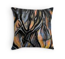 Fire and Stone Throw Pillow