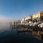 Lake shore at Lugano, Ticino, Switzerland by Mark Howells-Mead