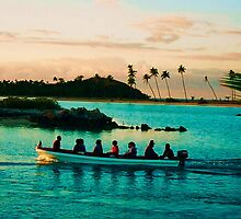 Fiji water taxi, Musket Cove by Lee Gunderson