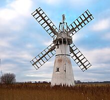 Thurne Mill, Norfolk, UK 4 by Gary Rayner