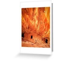 Flaming Ceiling Greeting Card
