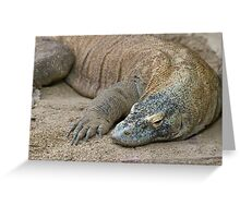 Komodo Dragon - Varanus Komodoensis Greeting Card
