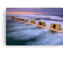 Merewether Ocean Baths - Sun Rise Canvas Print