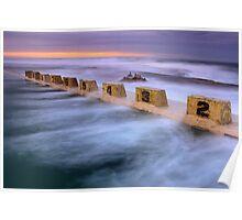 Merewether Ocean Baths - Sun Rise Poster