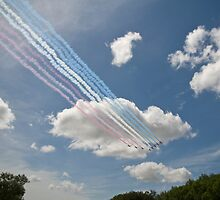 Red arrows on display. by sandyprints