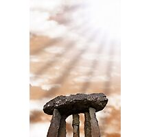 ancient stones in light rays Photographic Print