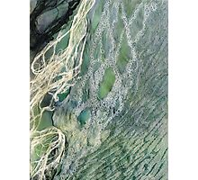 Shoreline 3 - A water study in mixed media Photographic Print