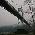 Foggy Evening, St. Johns Bridge by cratermoon