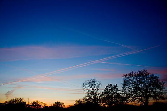 Beautiful Cheshire Sunset by Adam Costello